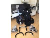 Bugaboo Donkey Duo Limited Edition Black frame in like new condition