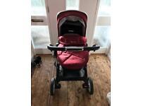 Silver Cross Pioneer Vintage Red pushchair