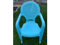 Children's plastic chairs - set of 2