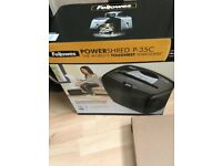 FELLOWES Powershred P-35C Cross Cut Paper Shredder (Collection and paid for in cash only)