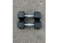 X2 10kg dumbbells Hume weights gym dumbbells