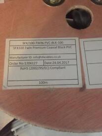 SFX / 100 twin pvc black 100 premium coaxial cable