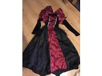 Girls Vampires Halloween costume age 7 - 8