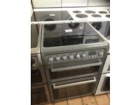 HOTPOINT 600 mm wide ceramic top electric cooker £155 can deliver