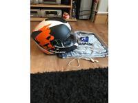 Shark L.E.D motorcycle helmet like New