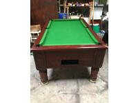 Pool table slate bed