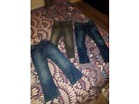 Girls jeans x3, size 4-5yrs