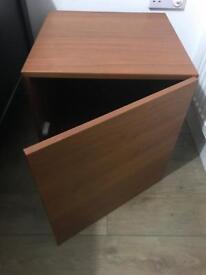 Brown Wood Cube Storage Unit (Excellent Condition)