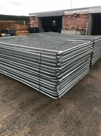 Banded heras fencing 30 in a pack used