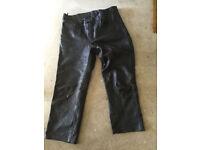 Acebike acesport 36 inch R leather trousers 36 inch bike motorbike jeans free post