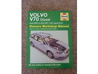 Haynes Owners Workshop Manual for Volvo V70 Diesel June 2007 to 2012