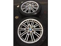 """17"""" BMW alloys with tyres set of 4 - 5x120"""