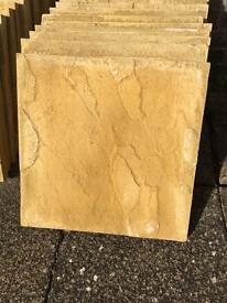 55 x new buff paving slabs