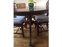 Extendable Baker & Harris twin pedestal Dining Table and Prince of Wales design Chairs