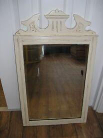 Edwardian ivory painted mirror