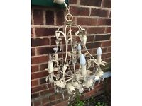Large Vintage / Retro Style Chandelier - Shabby Chic Looking Chandelier - Must Go