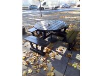 Wooden Outdoor Picnic Table 80""