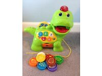 LIKE NEW - HARDLY USED Vtech Baby Feed Me Dino RRP £20