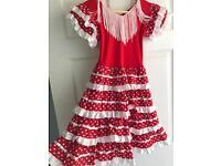 Girls flamenco dress age 4/5