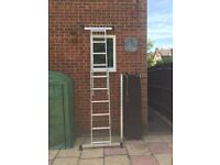 3 way ladder with platform very seldom used, a few paint splashes
