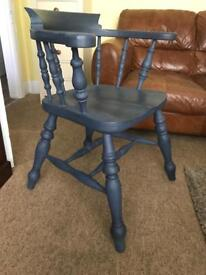 Up Cycled Antique Pine Captains Chair