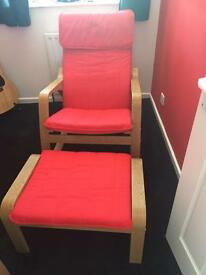 Ikea rocking/easy chair with footstool