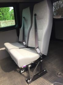 Van Seats - 2 individual seats complete with seat belts for fitting to rear of a van.