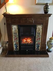 Fireplace - Victorian look,tiled, electrical