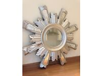 Large starburst wall mirror from next, 1m x 1m wide