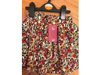 Sainsbury's Tu girls multicoloured flower skirt (Brand new)