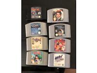 Nintendo 64 games x 8