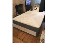Double bed with mattress and storage for sale £70