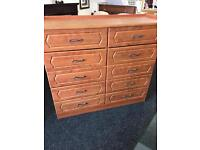 Large 10 drawers chest can deliver
