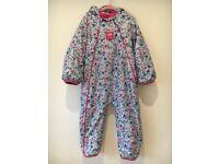 JoJo Maman Bebe Waterproof Fleece Lined All-In-One Suit (age 2-3)