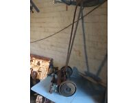 Vintage 1930s Greenes Of Leeds & London Push Mower Garden Or Shop Decoration- delivery available
