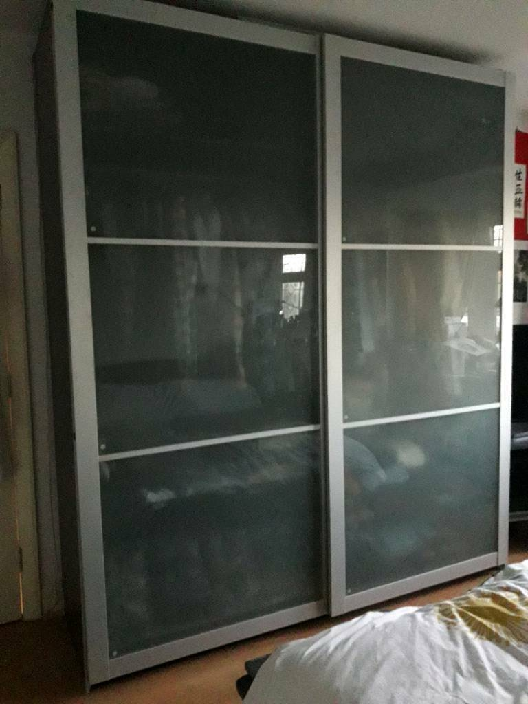 brand new a7395 db5e0 pair of IKEA Pax frosted glass sliding doors with tracks | in Isleworth,  London | Gumtree