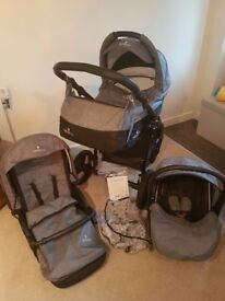Venicci - 3in1 Travel System Pram - Soft Denim Grey
