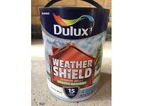 Dulux Weathershield Smooth Masonry Paint - Jasmine White - 5L