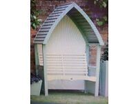 AFK Cottage Arbour In Mushroom And Cream Or Sage and Cream Beautiful hand crafted