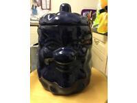 Novelty Potato Storage Jar/Barrel in Navy