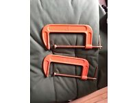 2x 8inch g clamps