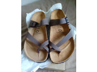 Sommers Sandals, brand new, never used, half prize! size 7.5 - EU41 brown