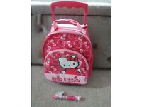 Hello Kitty trolley bag / mini case + Hello Kitty multi pen (new)