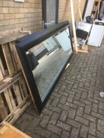 Mirror large hardwood framed mirror see picture