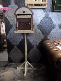 Stunning Free Standing Post Box Shabby Chic Wedding Possible Delivery