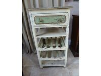 Wine Rack with shelves & draw