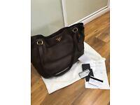 Prada designer leather handbag