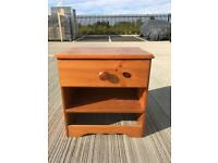 Pine Bedside Table - Delivery Available
