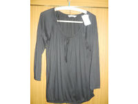 New Black Long Sleeved Top