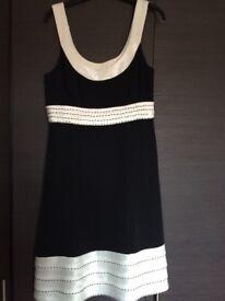 Ladies Black/Cream Special Occasion Dress Size 12